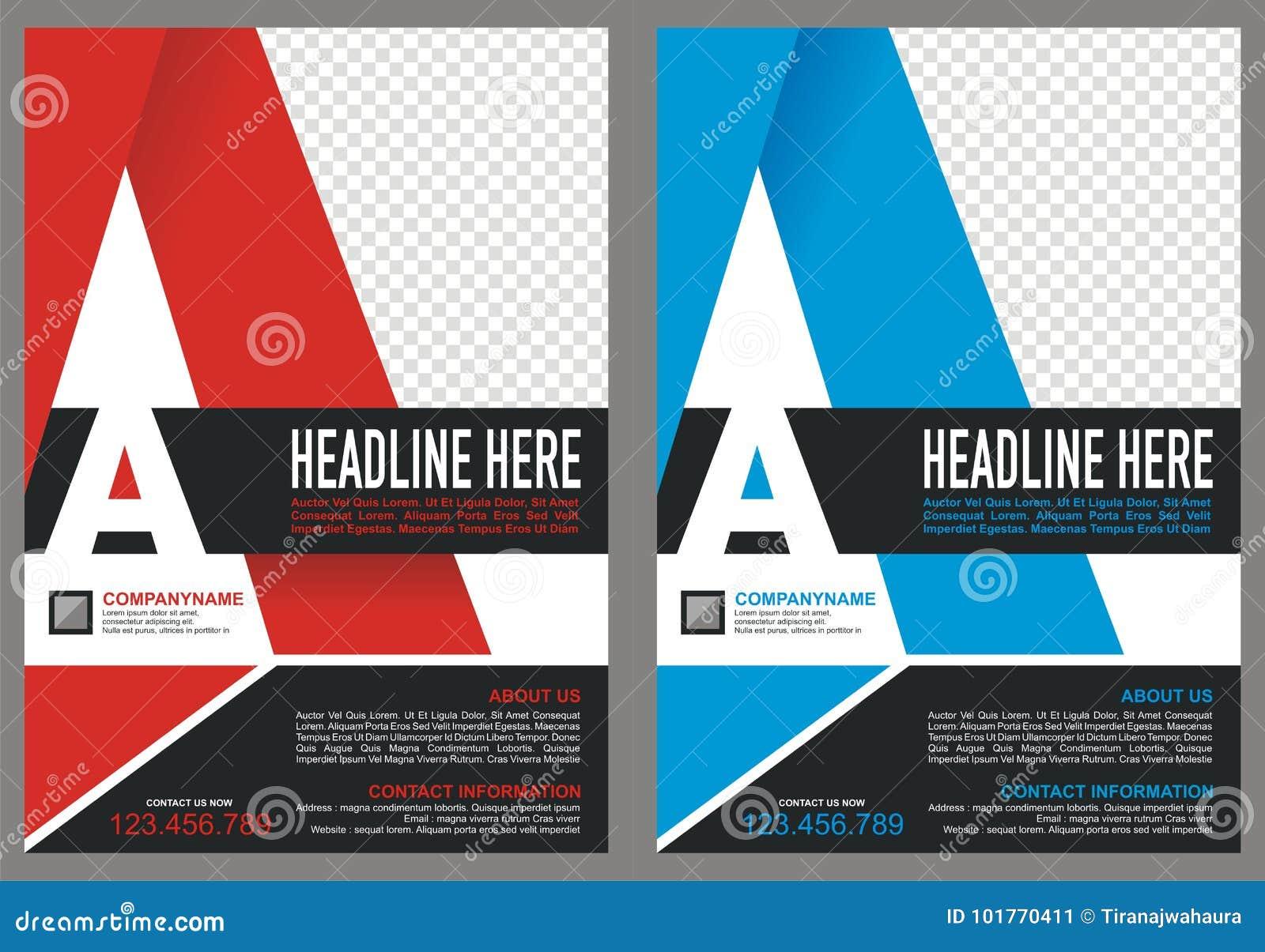 Opuscolo con la copertura di stile di logo del ` del ` A della lettera