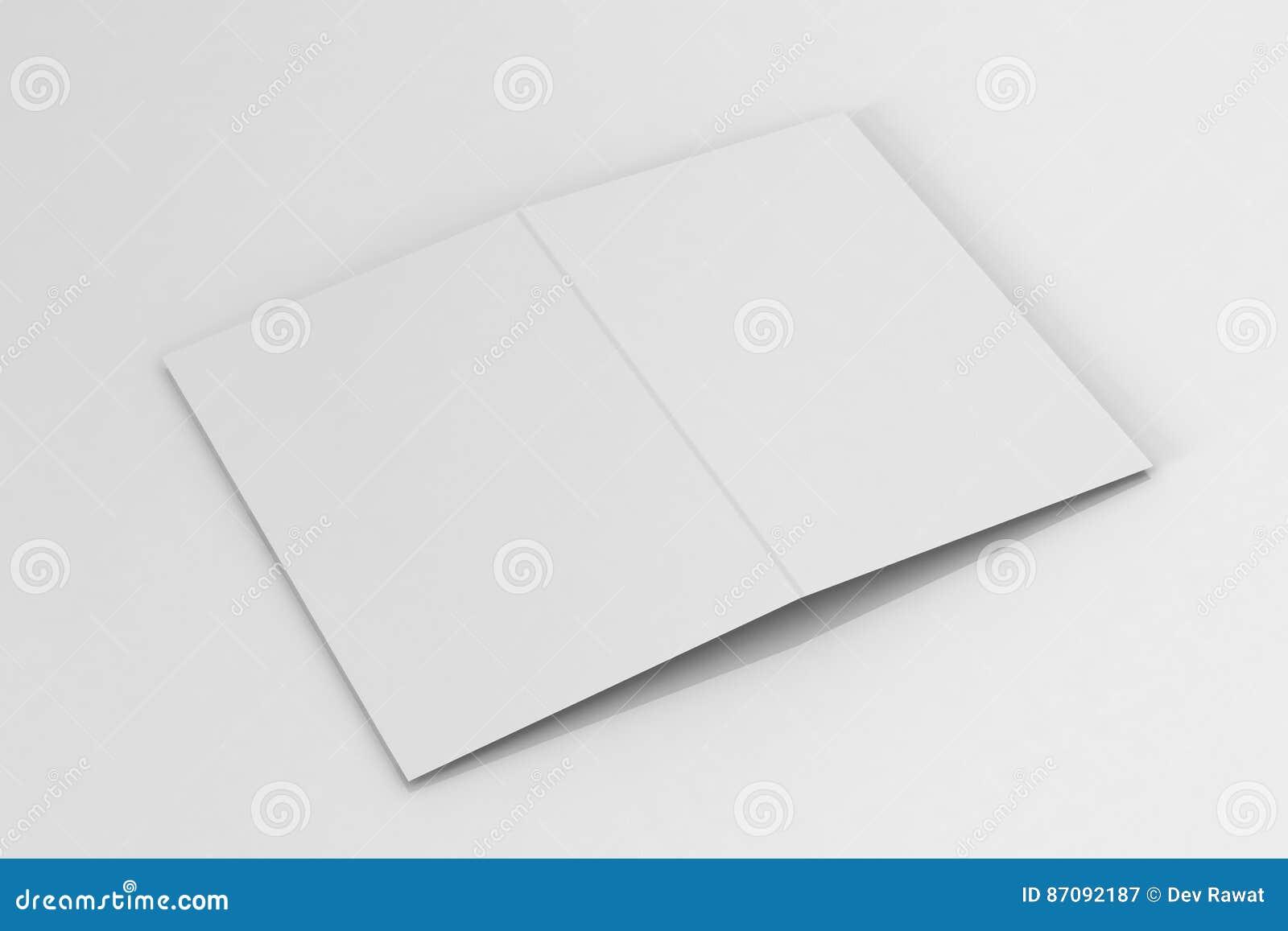 Opuscolo del Bi-popolare A5/modello dell opuscolo su fondo bianco isolato