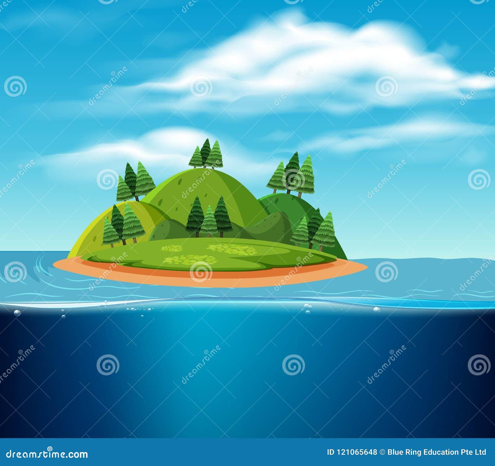 Opustoszała wyspy scena