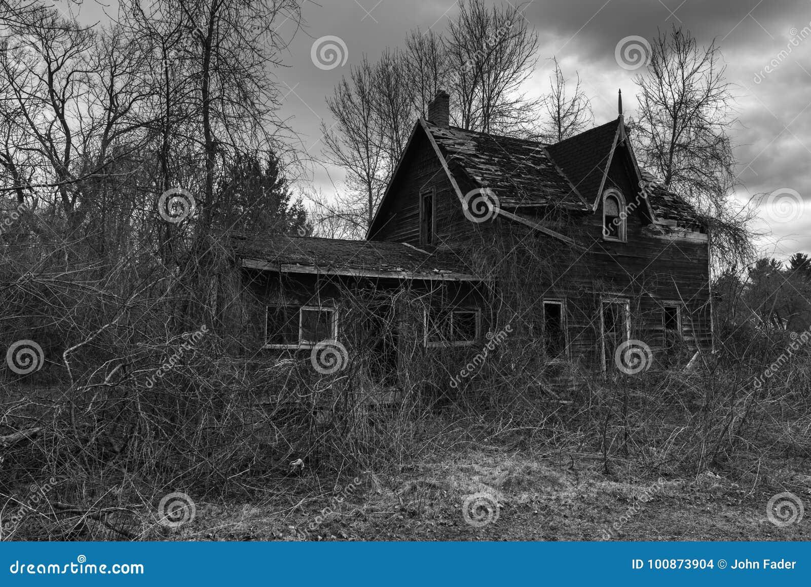 Opuszczony straszny dom