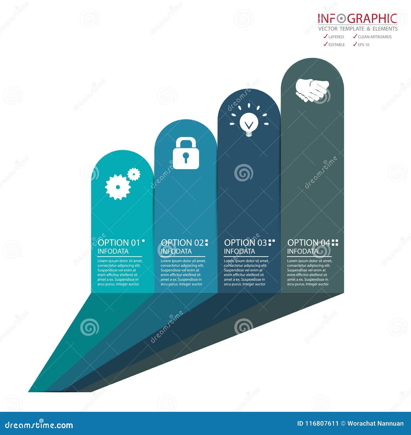 Opzione astratta di infographics 4 dell elemento di vettore Progettazione per il busine