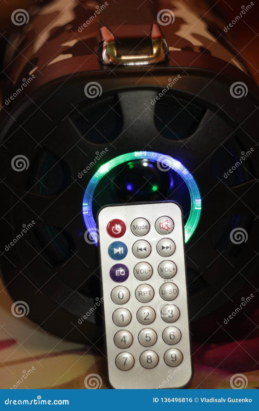 Orador portátil musical com música de controle remoto, baixa da cor do diodo emissor de luz do amortecedor