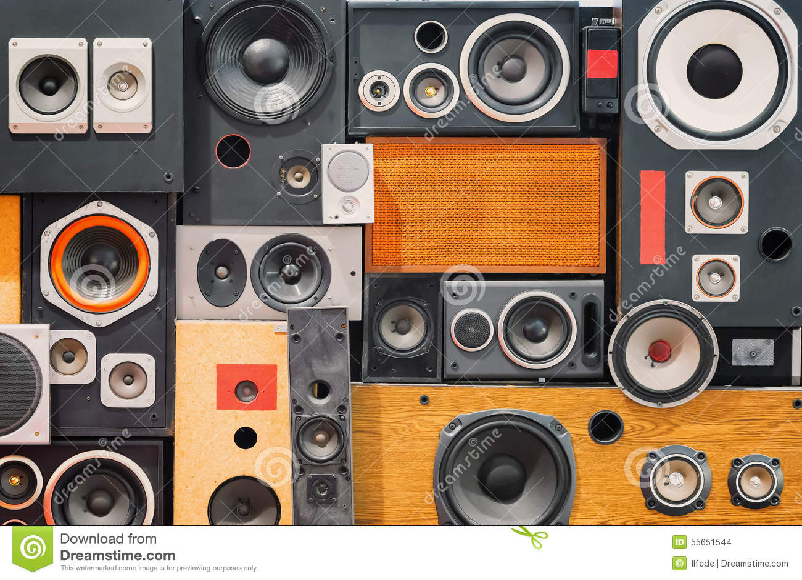 Oradores retros do som da música do estilo do vintage