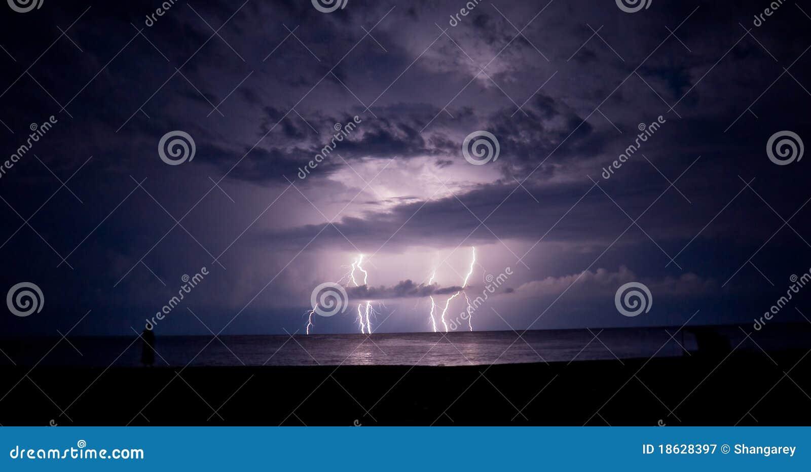 Orage et foudre en mer