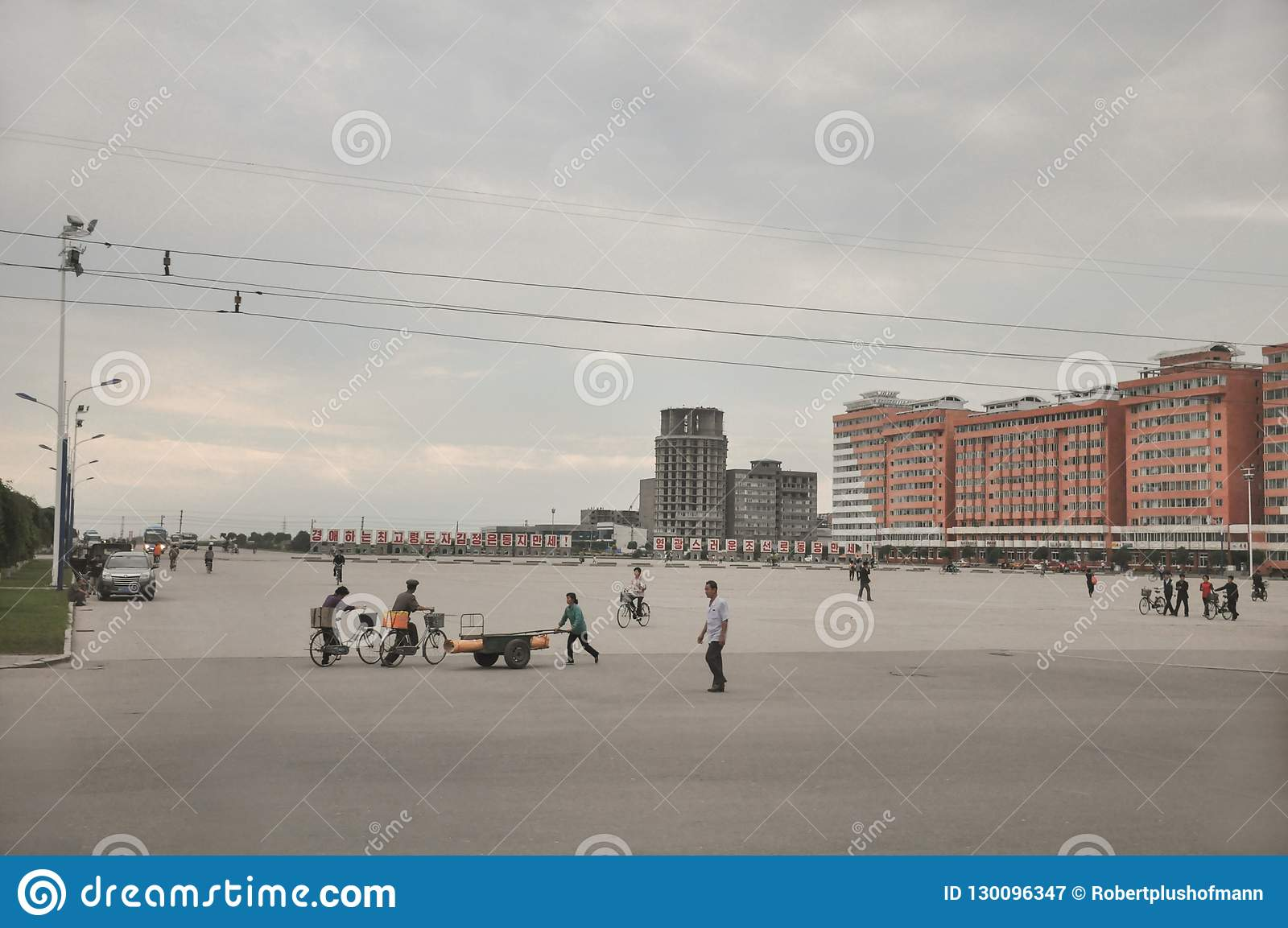 09/01/2018, orang-outan, Nord-Corée : La grande place de ville semble toujours overscaled en Corée du Nord Il est habituellement