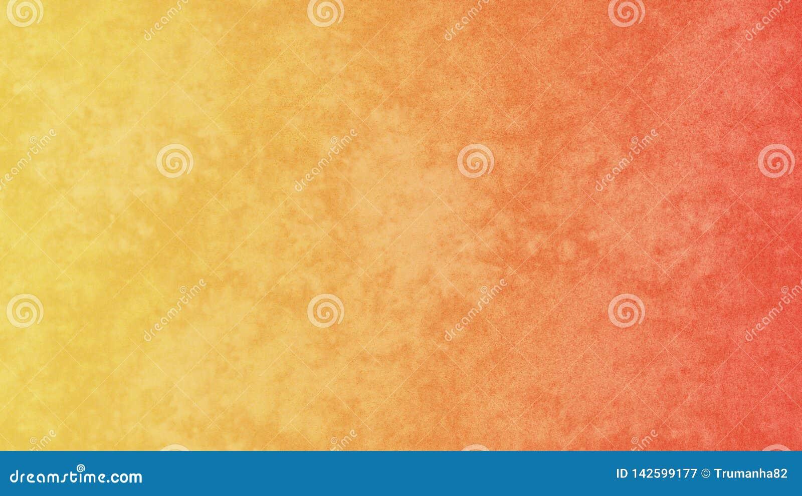 Orange abstraite et fond grunge jaune d aquarelle