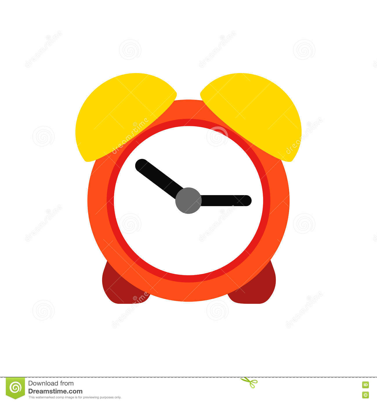 Alarm Clock In Flat Style. Vector Illustration ...