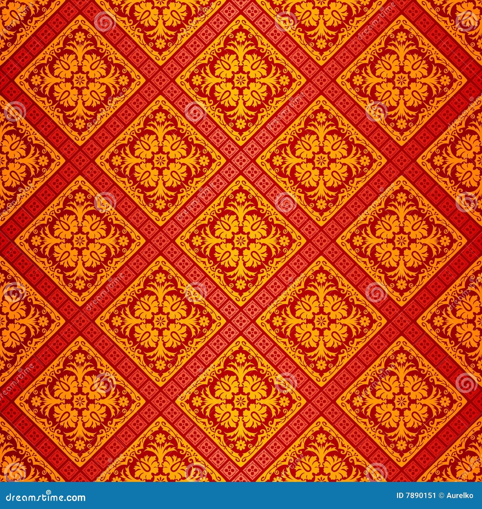 orange aufw ndige tapete stockbild bild 7890151. Black Bedroom Furniture Sets. Home Design Ideas