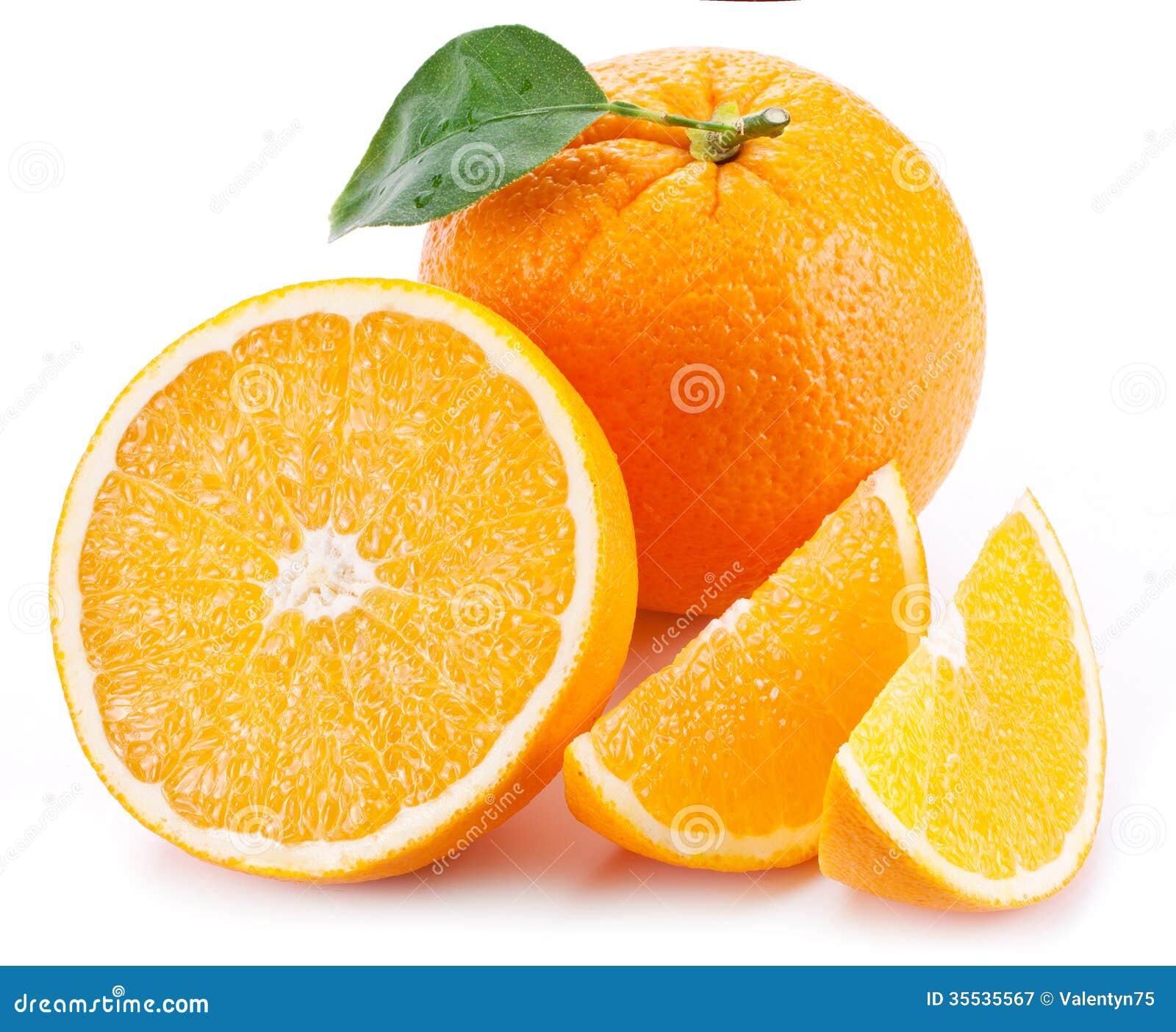 orange avec la feuille image stock image du juteux 35535567. Black Bedroom Furniture Sets. Home Design Ideas