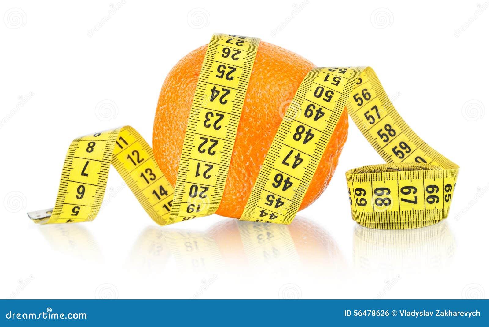 Orange avec la mesure