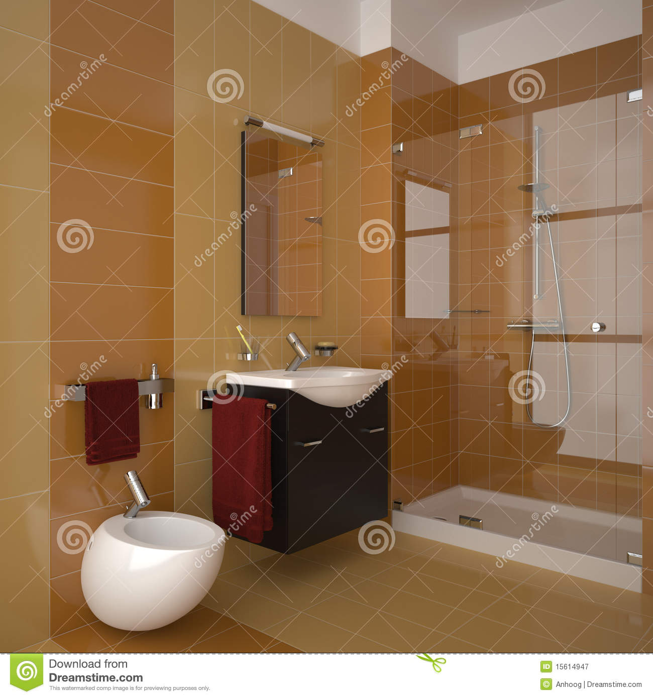 orange badezimmer stock abbildung illustration von marmor