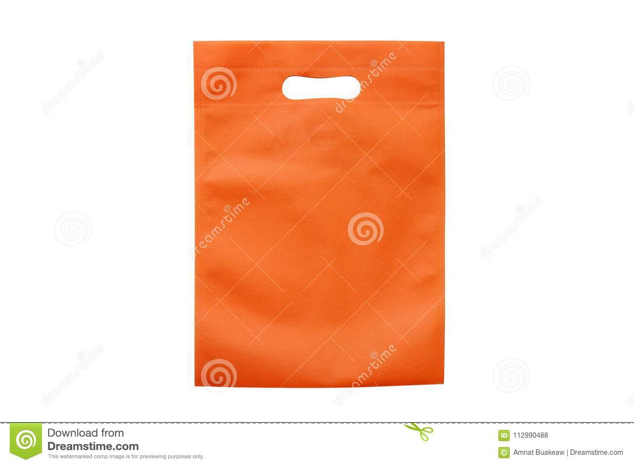 Orange bags, eco cloth bags to reduce global warming, shopping bags, plastic bag, recycling bags, bag for food