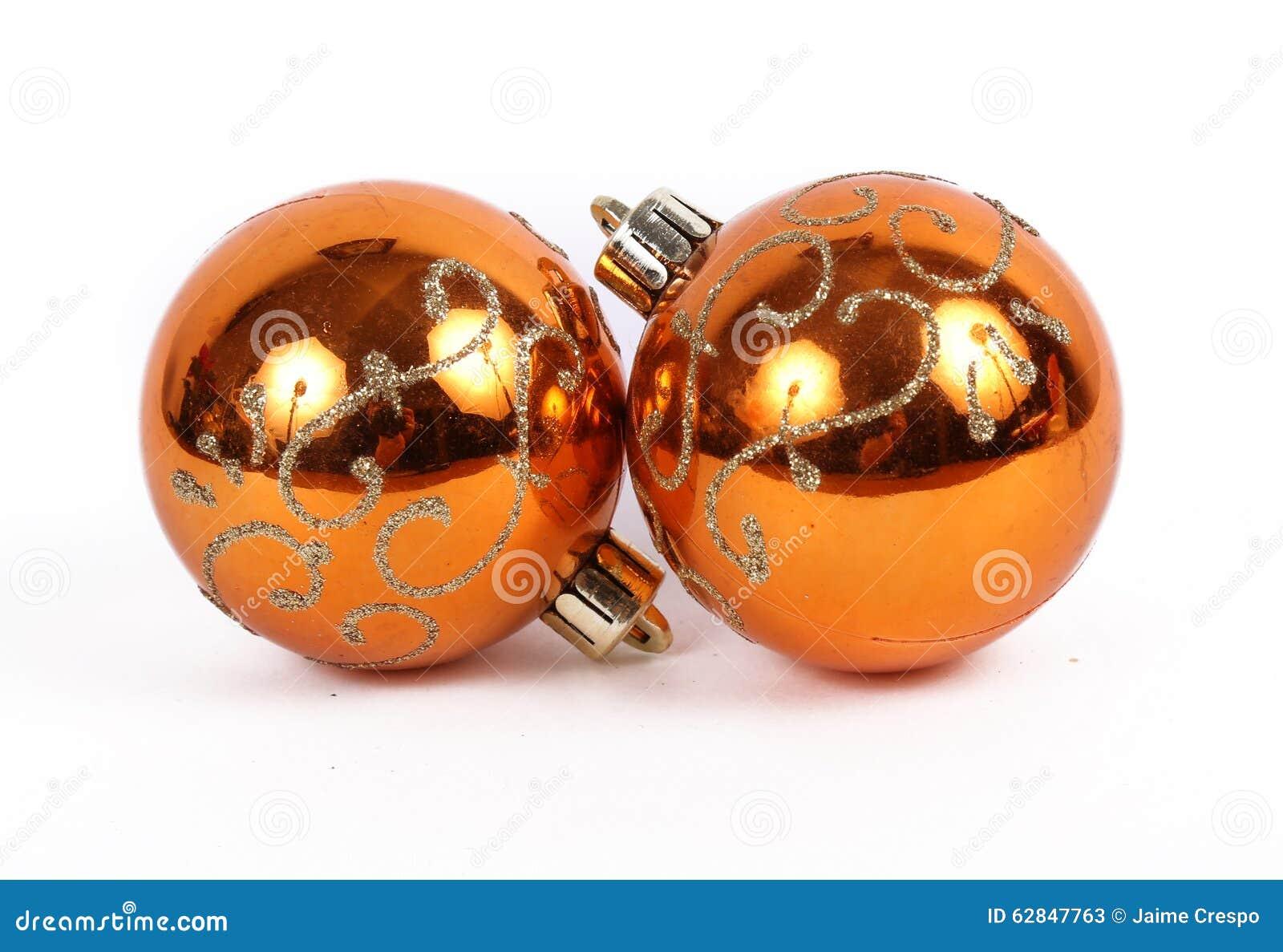 Orange Balls Christmas Ornament Stock Image - Image of ...
