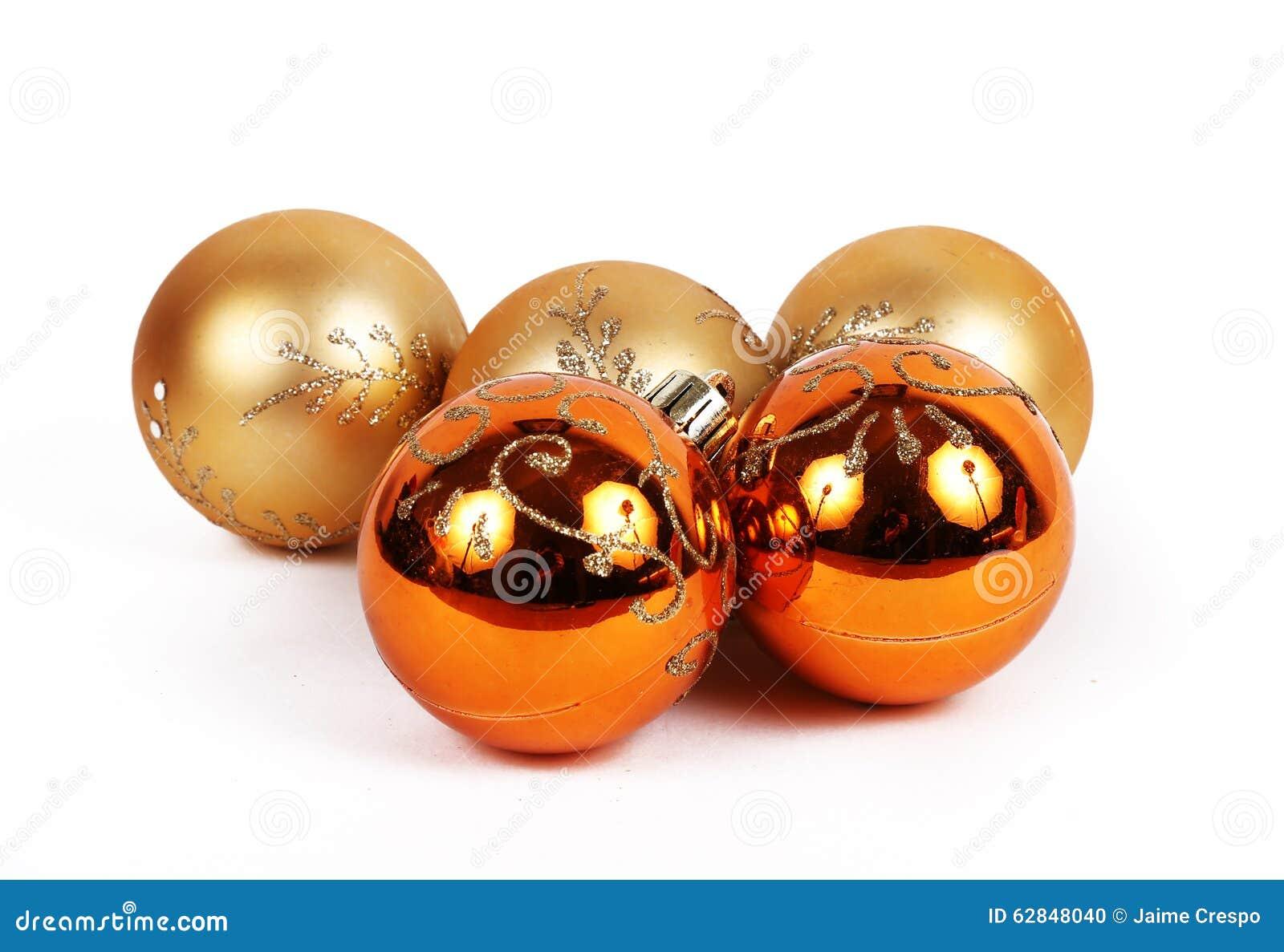 Orange Balls Christmas Ornament Stock Photo - Image of ...