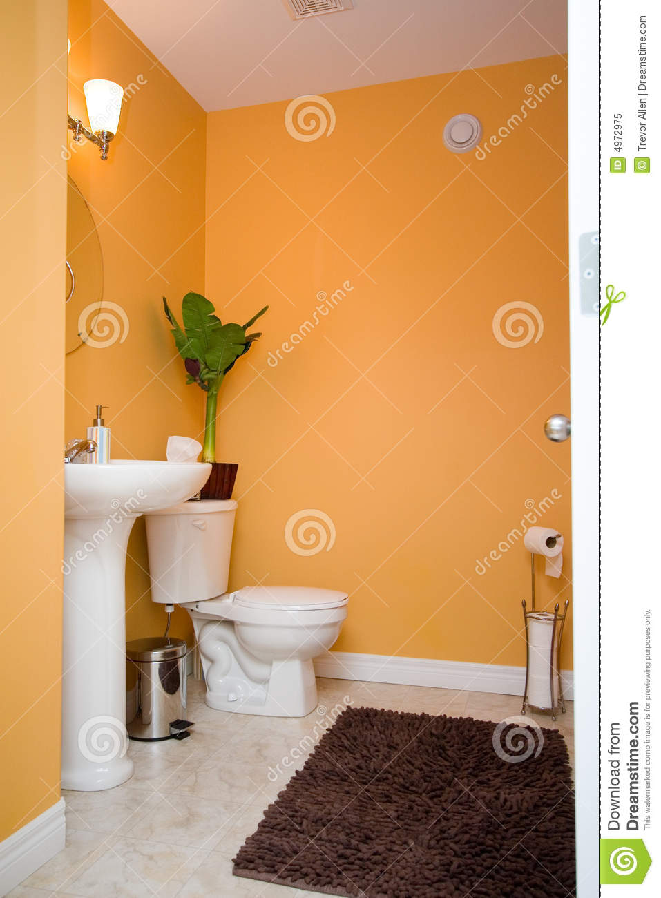 Orange Bathroom Orange Bathroom Royalty Free Stock Photo  Image 4972975