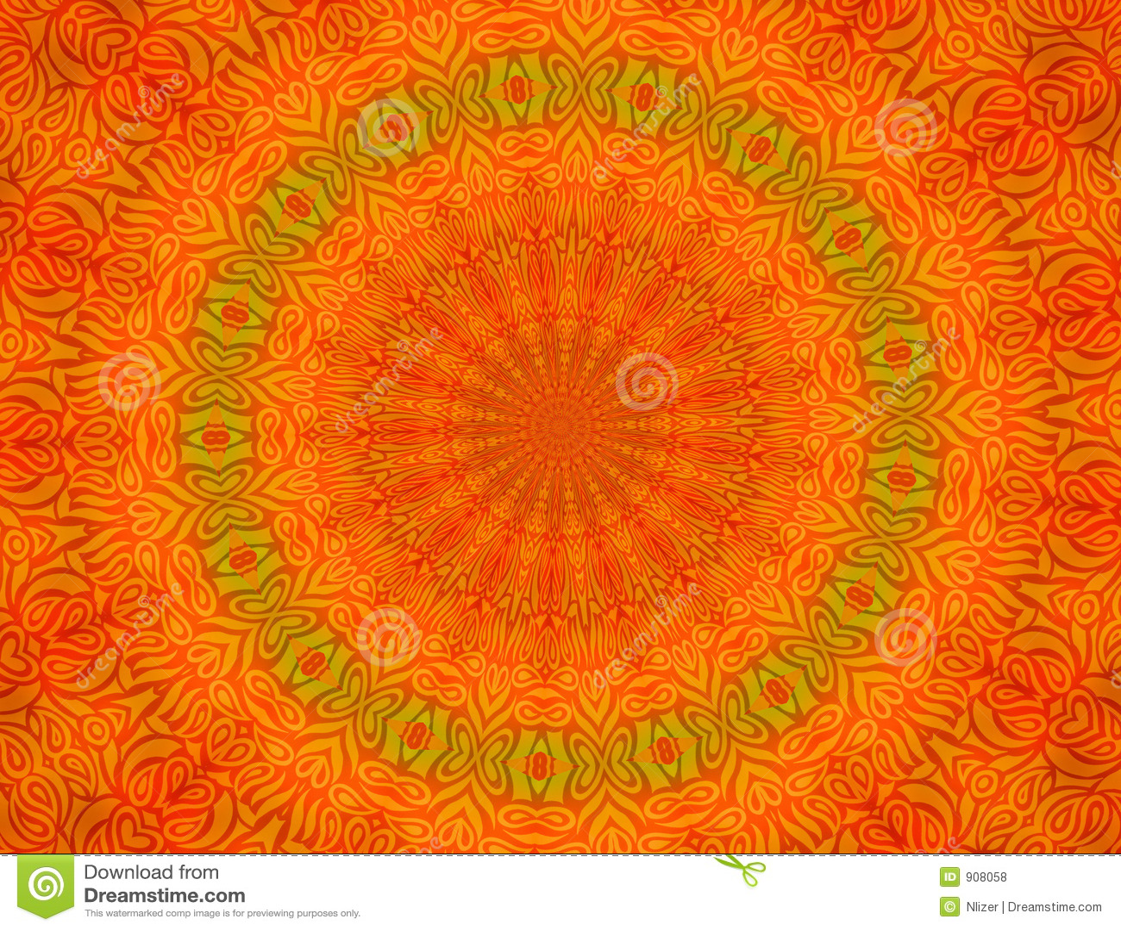 orange batik background wallpaper stock illustration