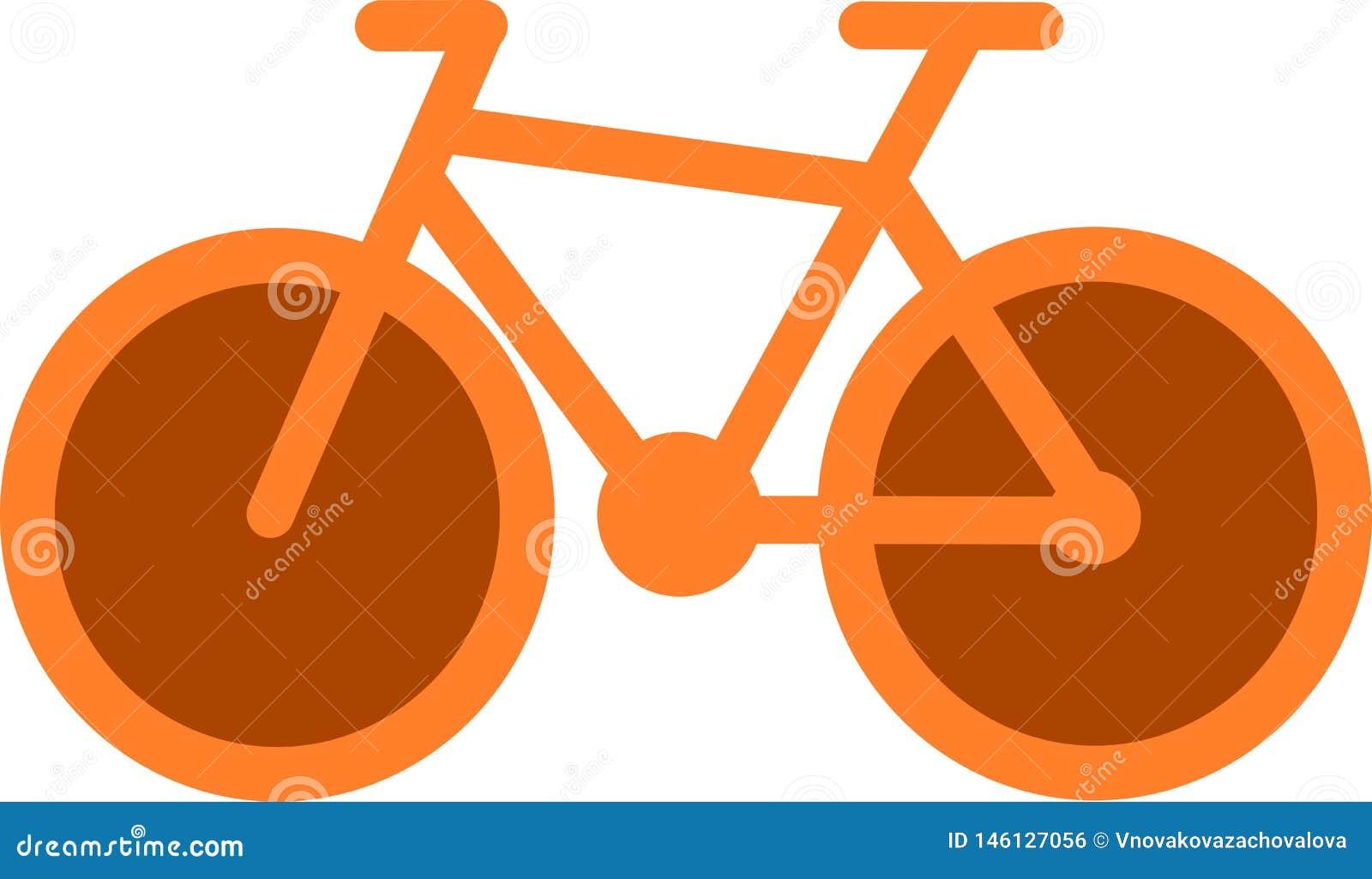 Orange bicycle icon