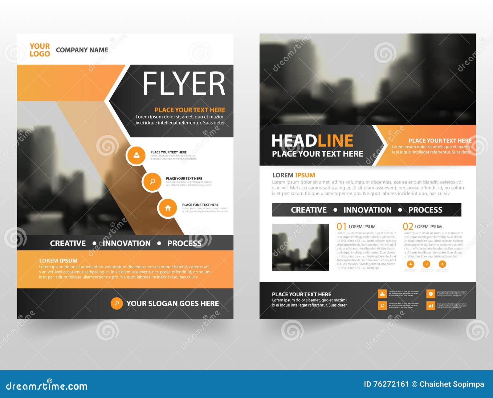 Orange Black Business Brochure Leaflet Flyer Annual Report Template
