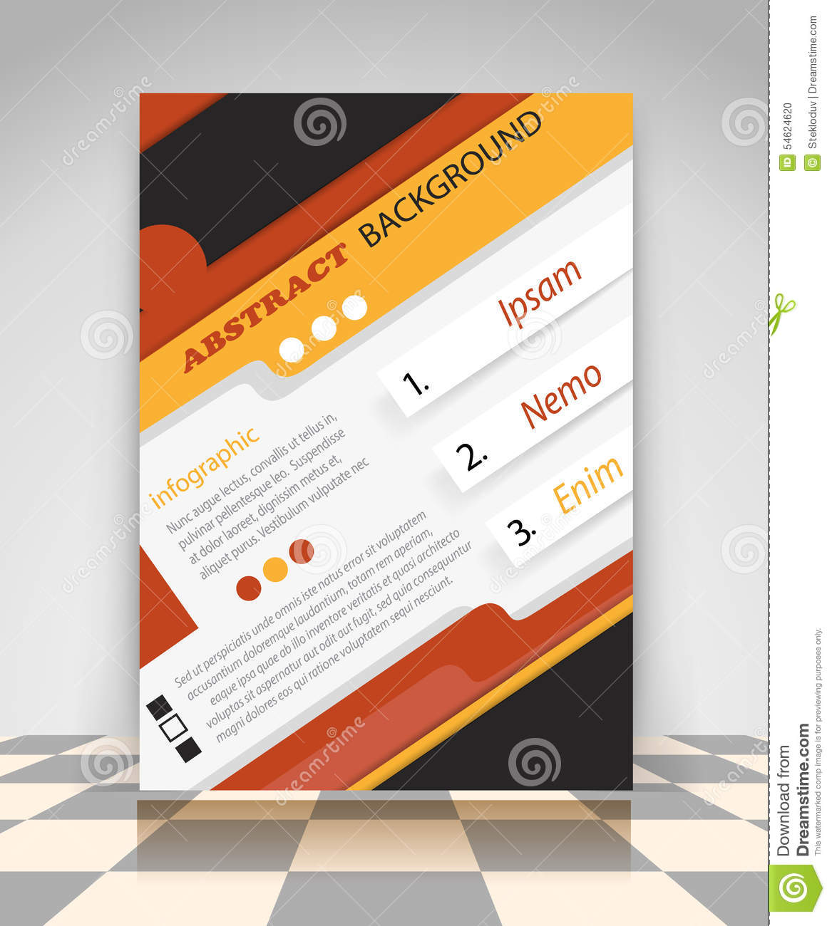 orange and black business flyer stock vector image  orange and black business flyer