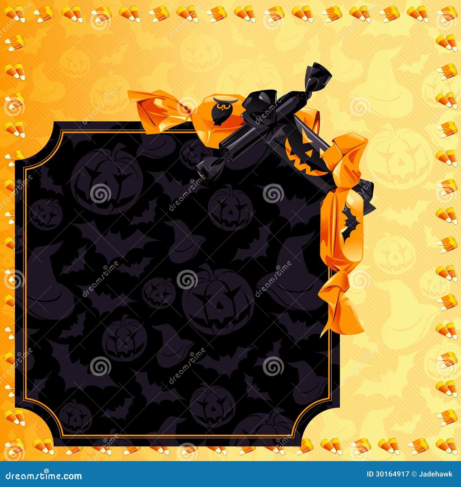 elegant halloween candy background stock vector - illustration of