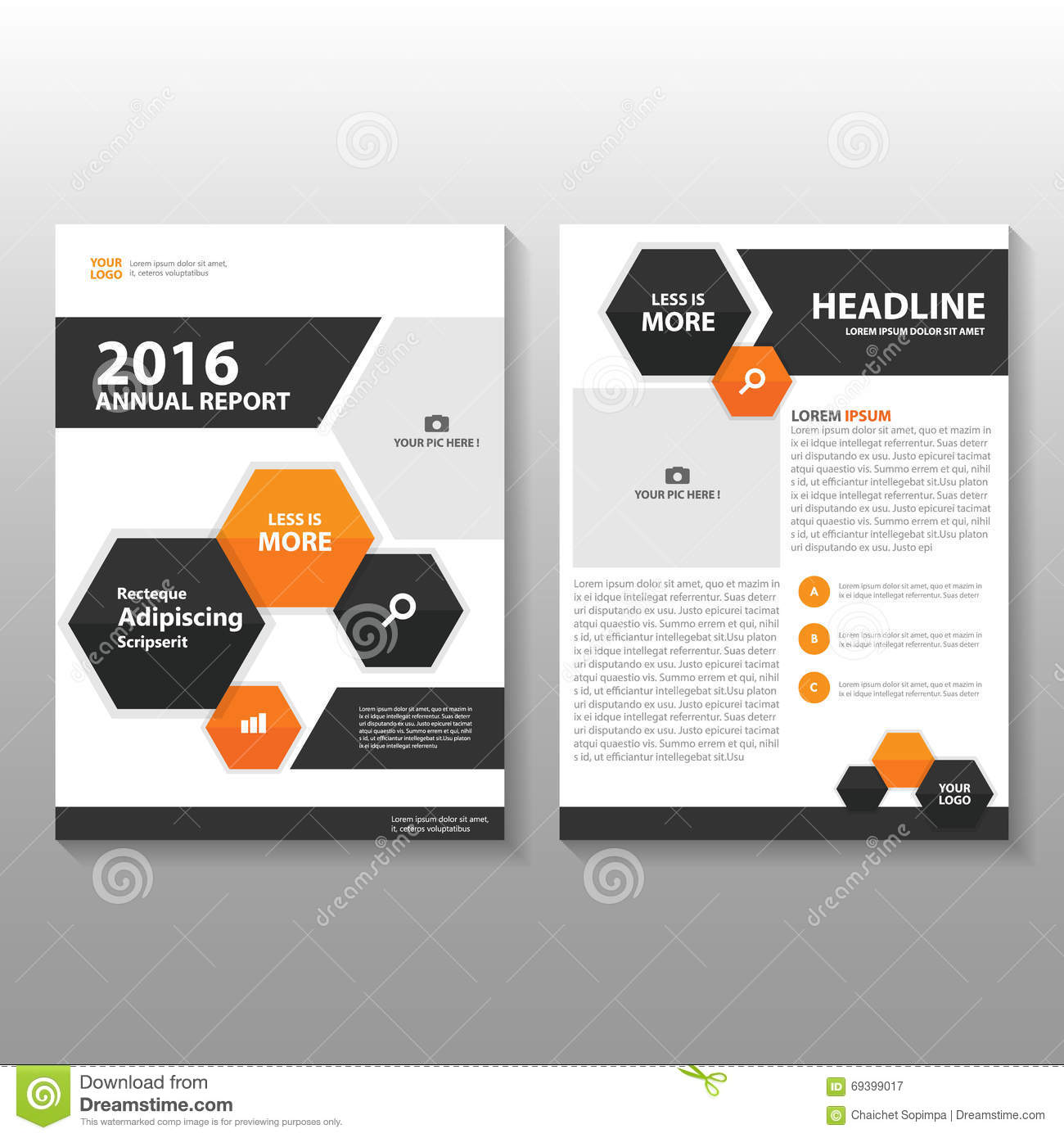 brochure leaflet design stock vector image of geometric 71364225