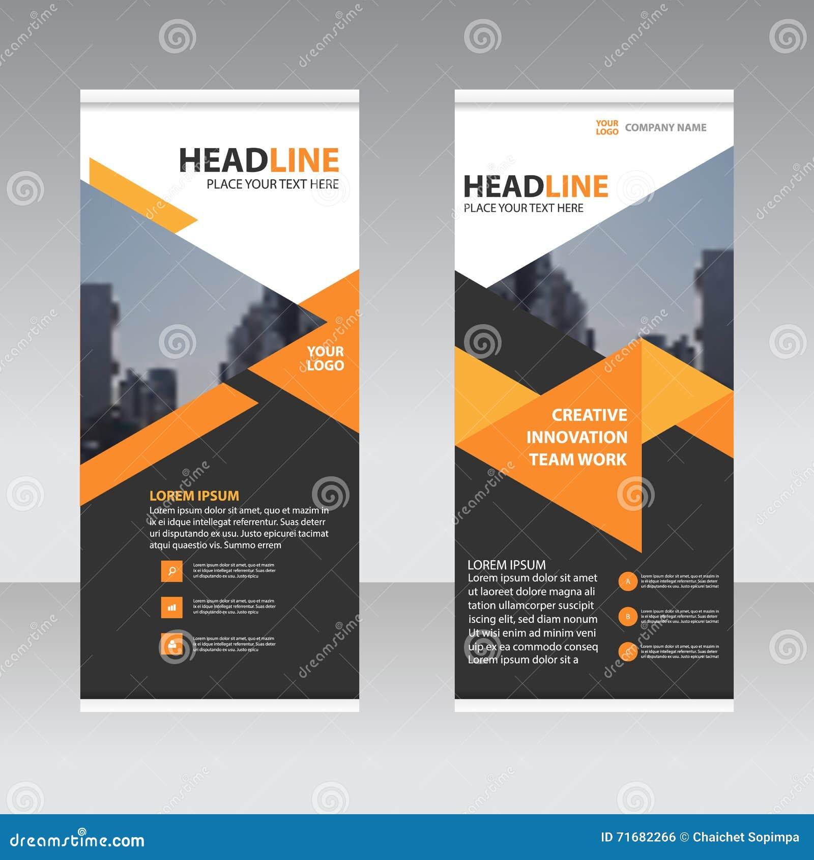 Design for roll up banner - Abstract Banner Business Design Flat Illustration Roll