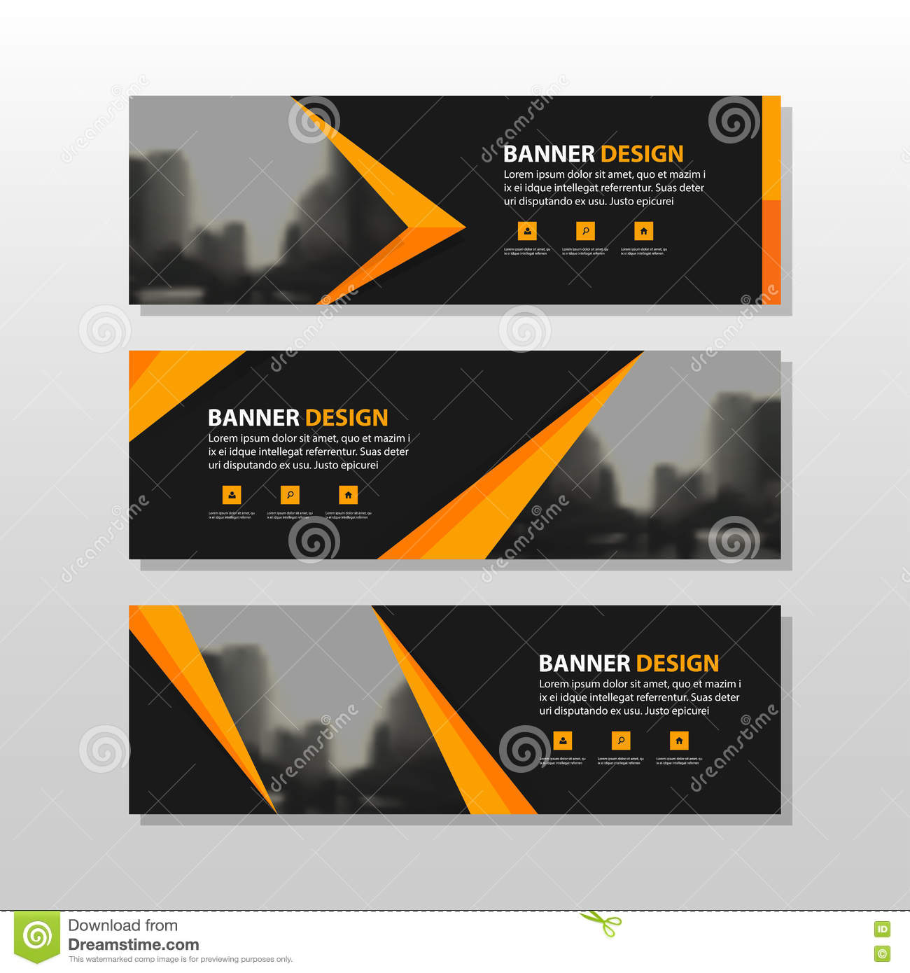 Orange Business Abstract Layout Royalty-Free Stock Photo