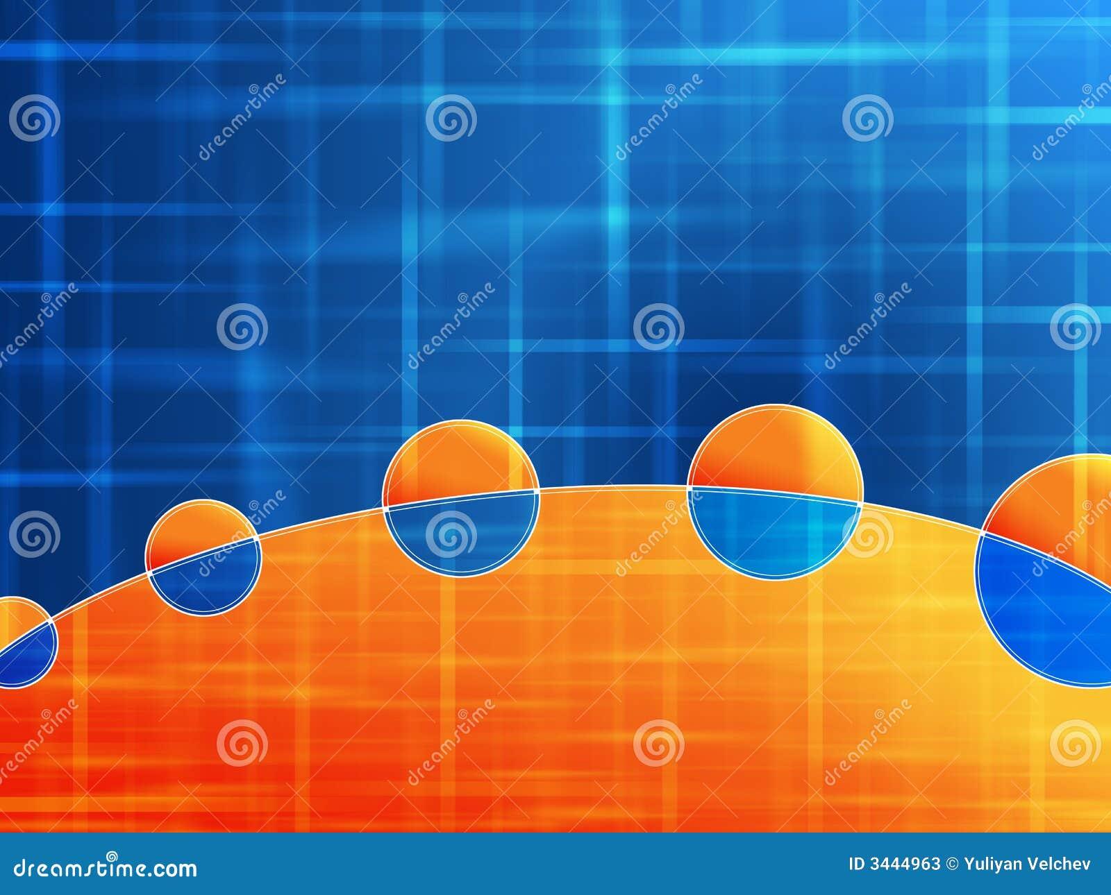 Blue And Orange Background: Orange Blue Background Stock Illustration. Image Of Stripe