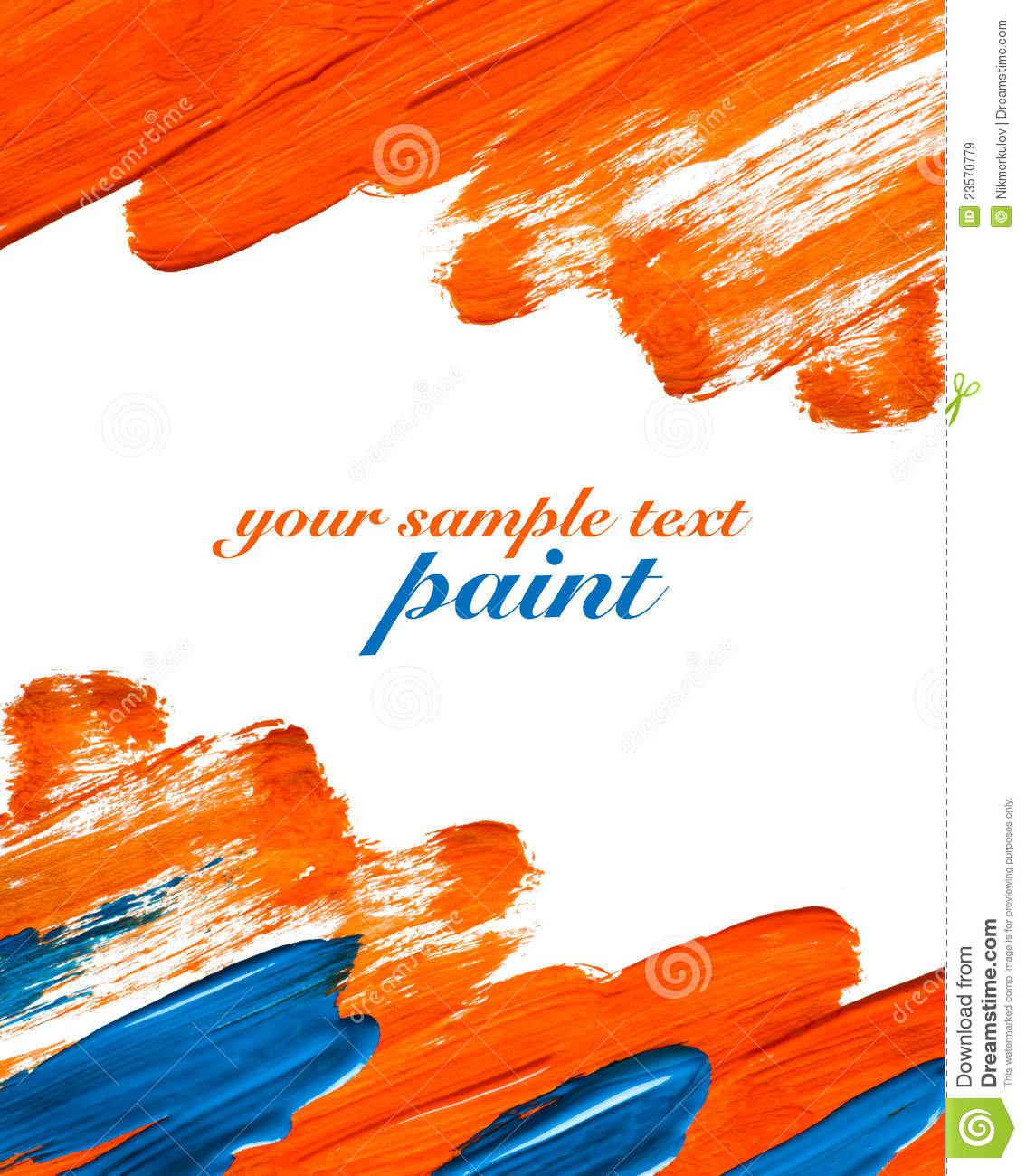 orange and blue paint strokes royalty free stock images image 23570779. Black Bedroom Furniture Sets. Home Design Ideas