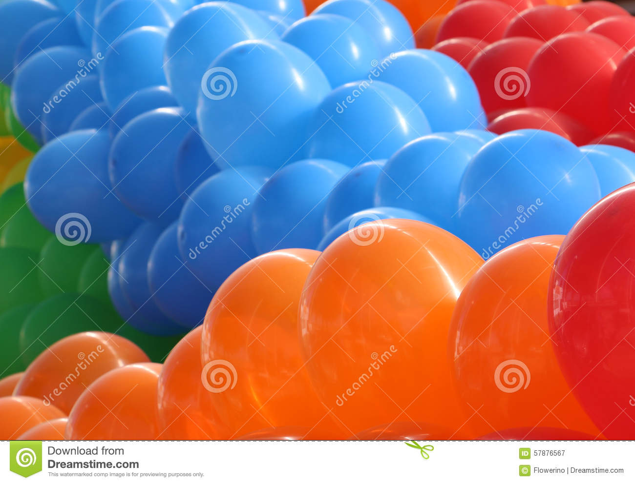 Green and blue balloons - Orange Blue And Red Balloons