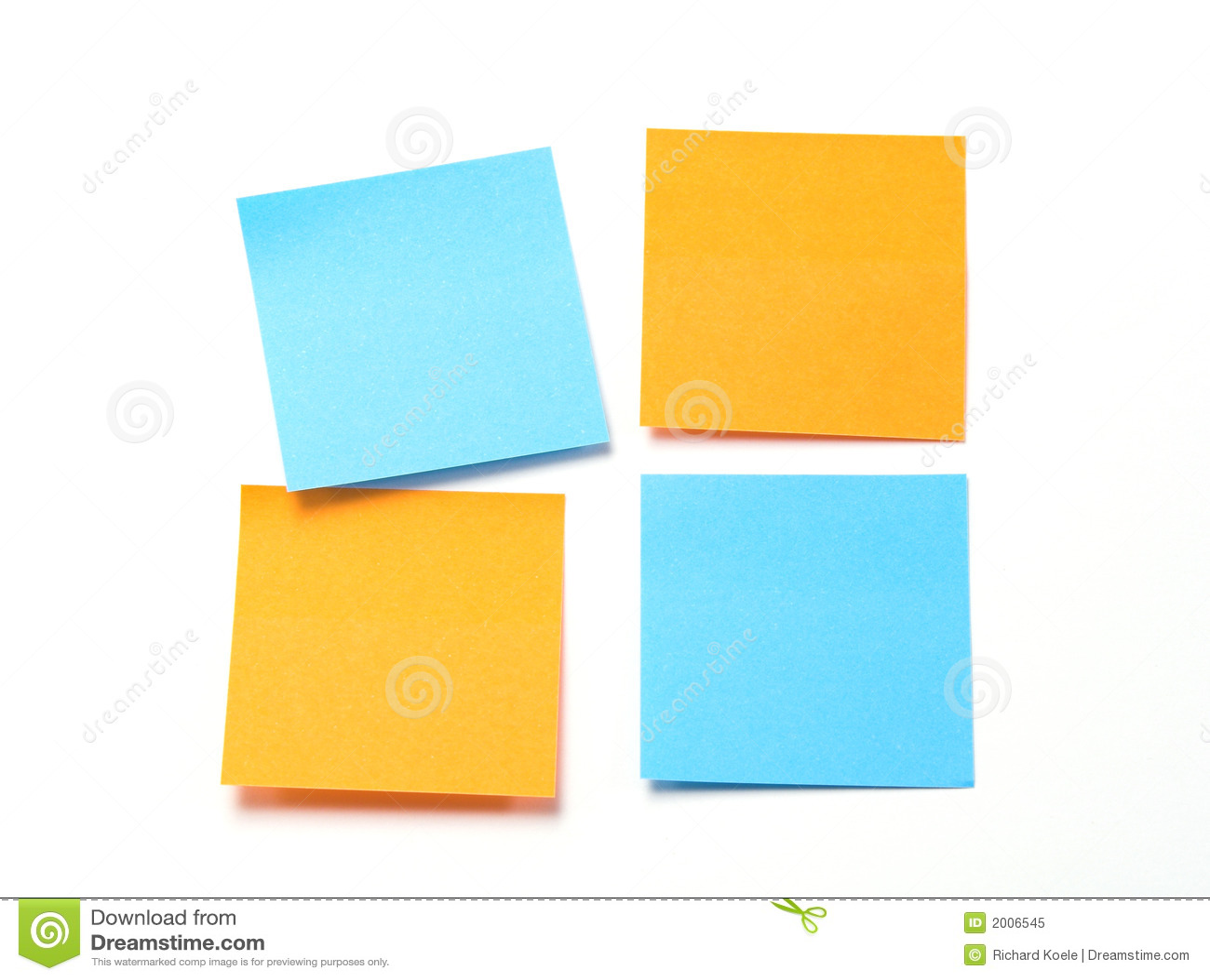 Blue Sticky Notes Stock Image - Image: 4359191