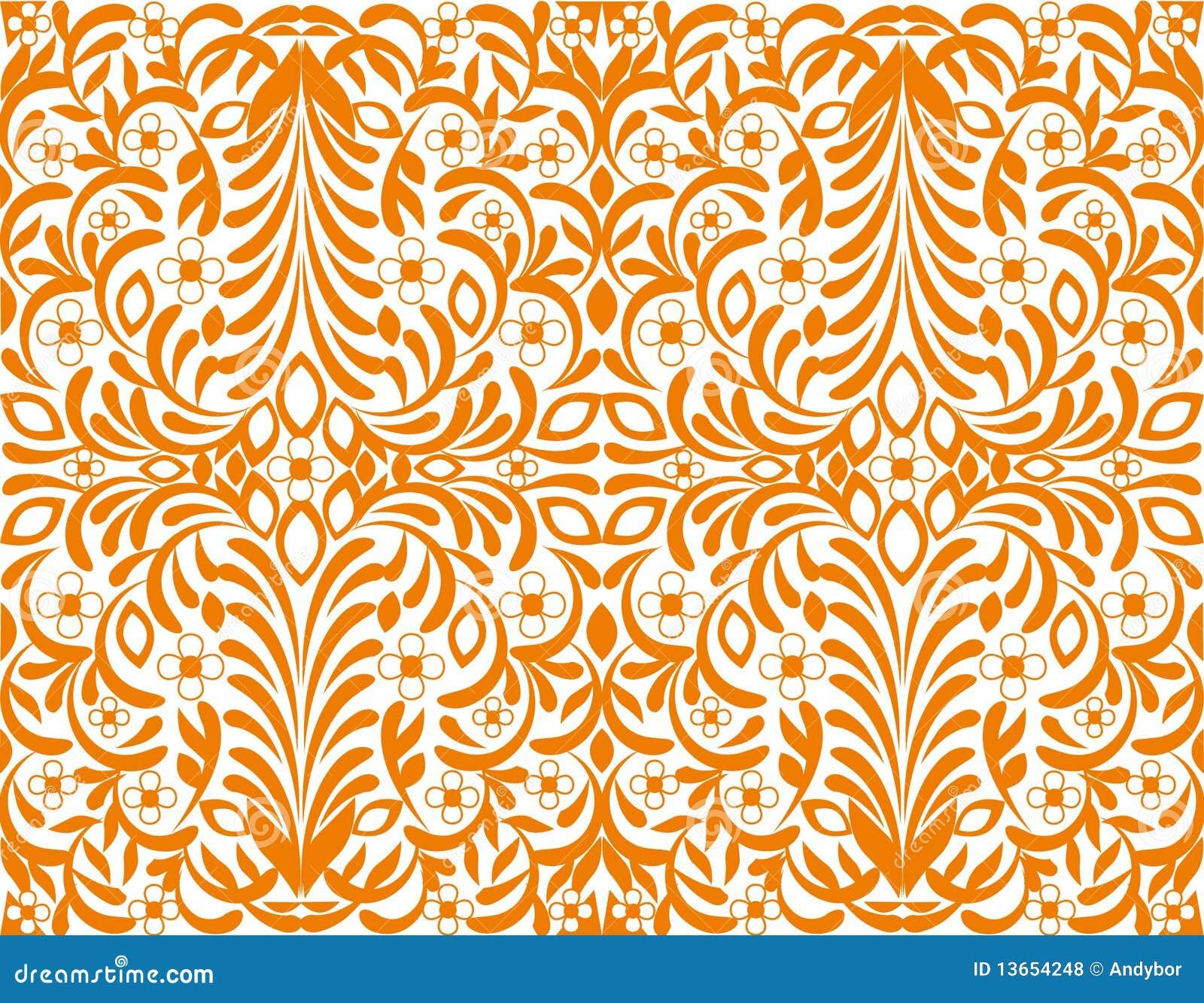 Orange blumenhintergrund nahtlose tapete lizenzfreie for Tapete orange