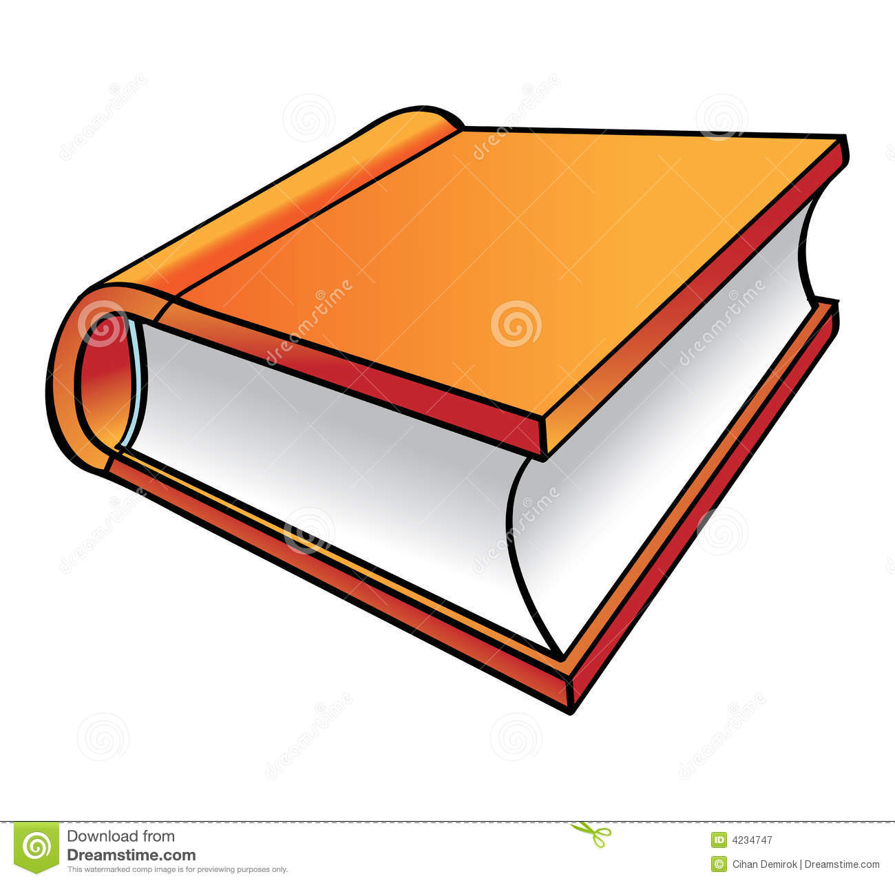 Orange Book Cartoon Stock Vector Illustration Of Letter