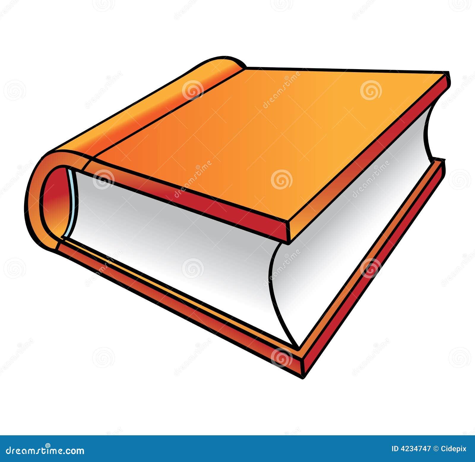 Orange Book Cartoon Royalty Free Stock Photography Image