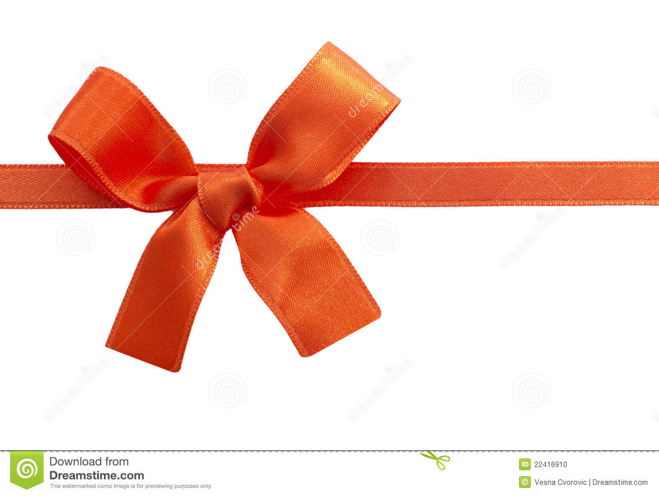 Orange Bow Stock Photo - Image: 22416910