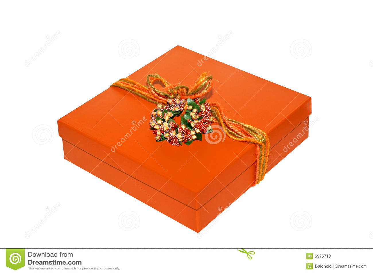 orange box stock photo image of ribbon gift christmas. Black Bedroom Furniture Sets. Home Design Ideas