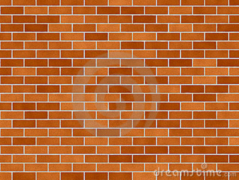 Orange Brick Background Stock Illustration Image Of