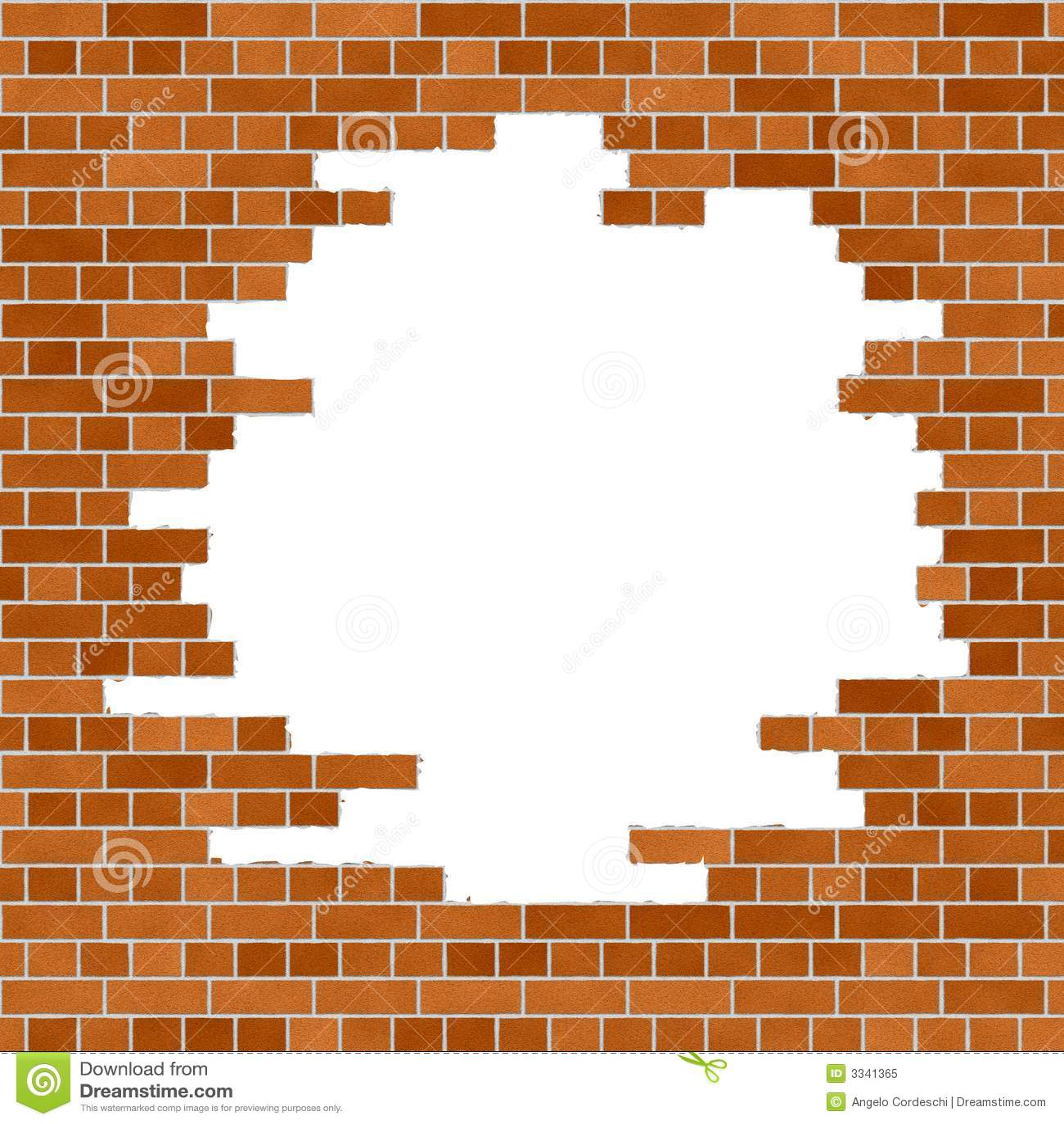 Old brick wall as a frame 01 stock photo image 18377500 - Filename Orange Brick Wall Frame 3341365 Jpg