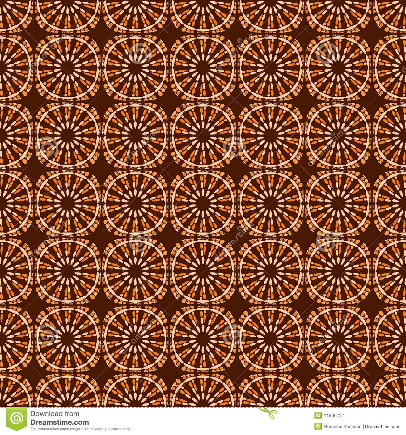 Orange And Brown Abstract Pattern Royalty Free Stock