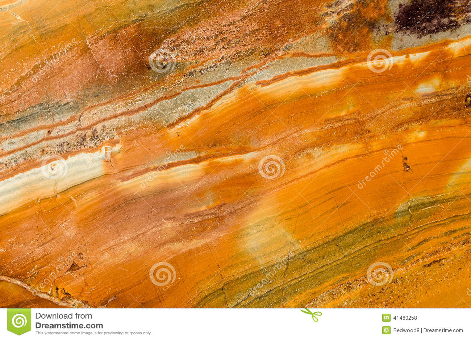 Orange brown and white polished granite stock photo for Marmol color naranja