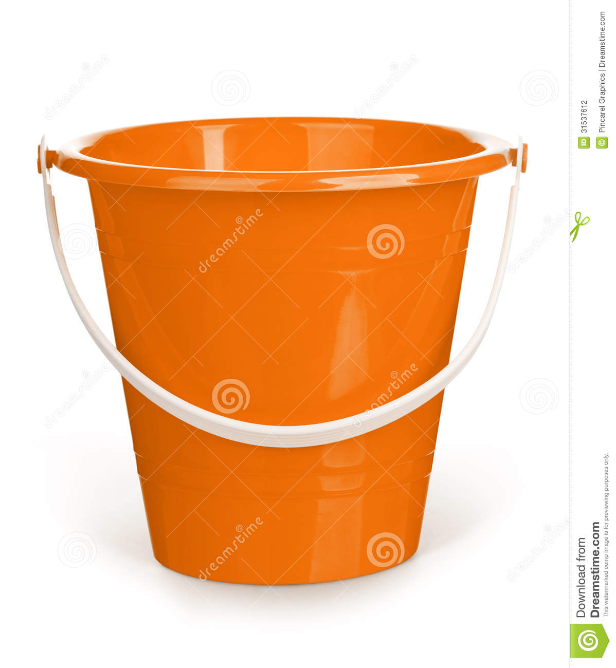 Orange Bucket Stock Photo Image Of Copy Handle Color