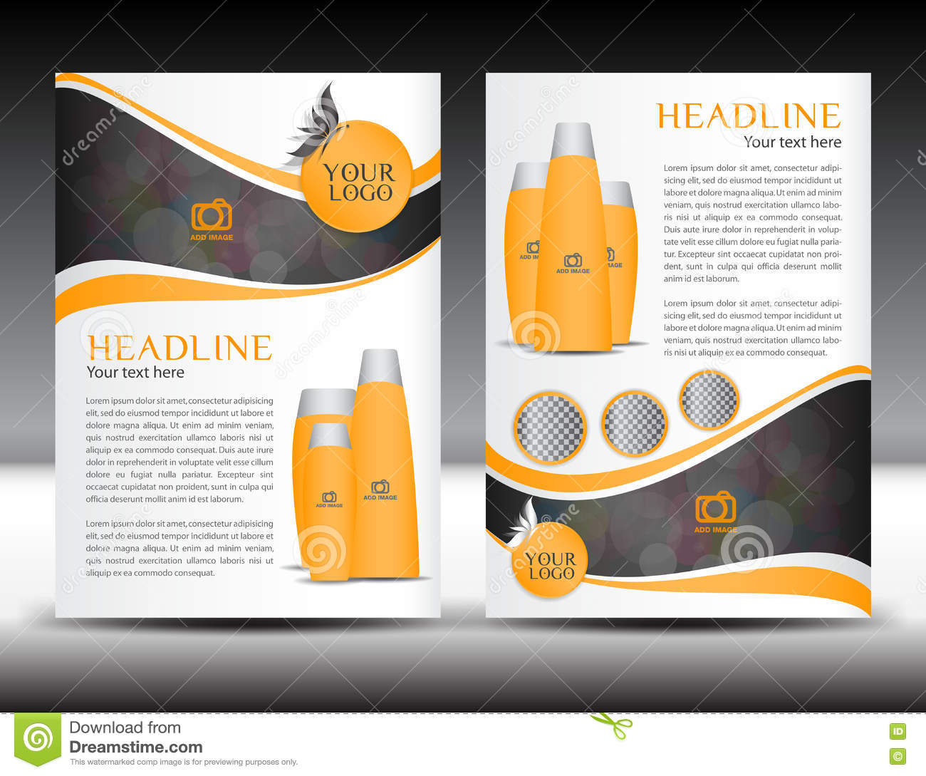 orange business brochure flyer design layout template in a size orange business brochure flyer design layout template in a4 size