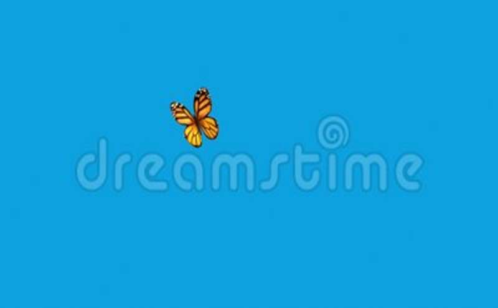 Orange Butterfly Flying on a Blue Background  3d animation  4K