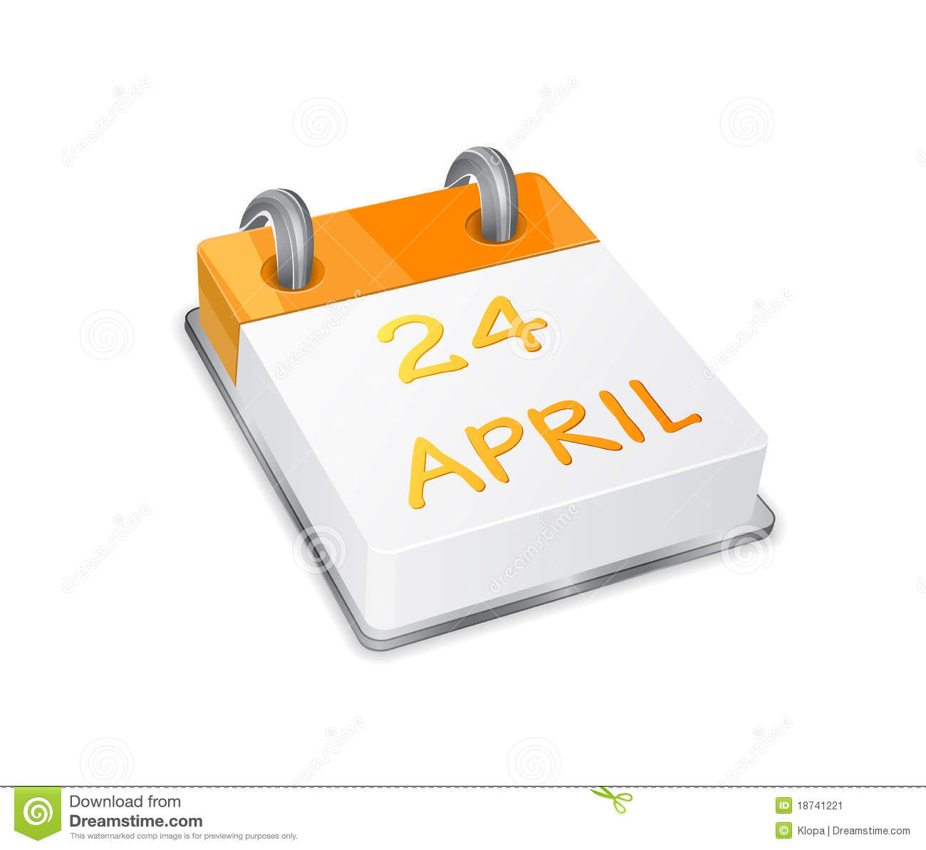 Xs Calendar April : Orange calendar icon on easter april th stock vector