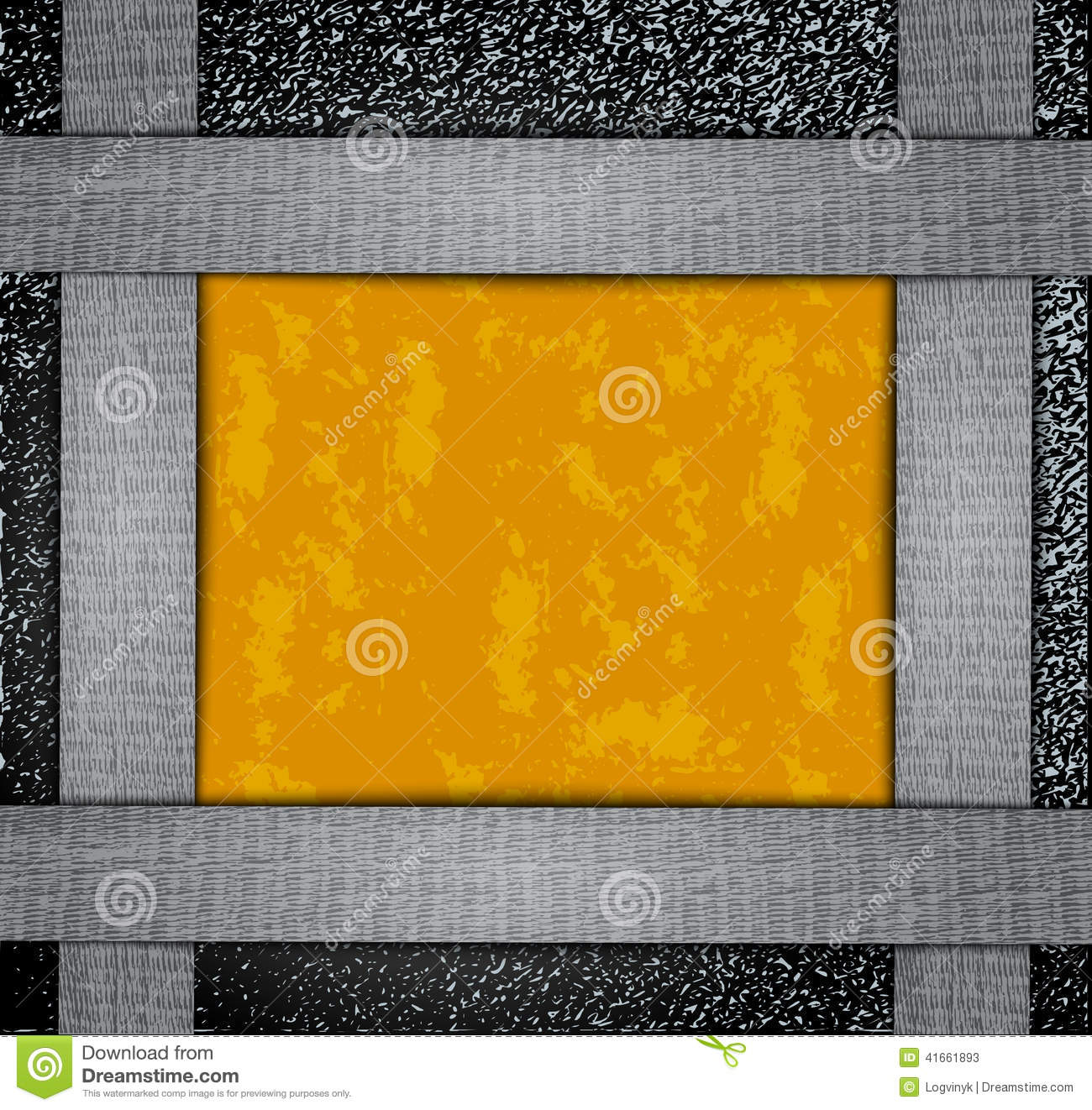 orange card texture on a metal background stock