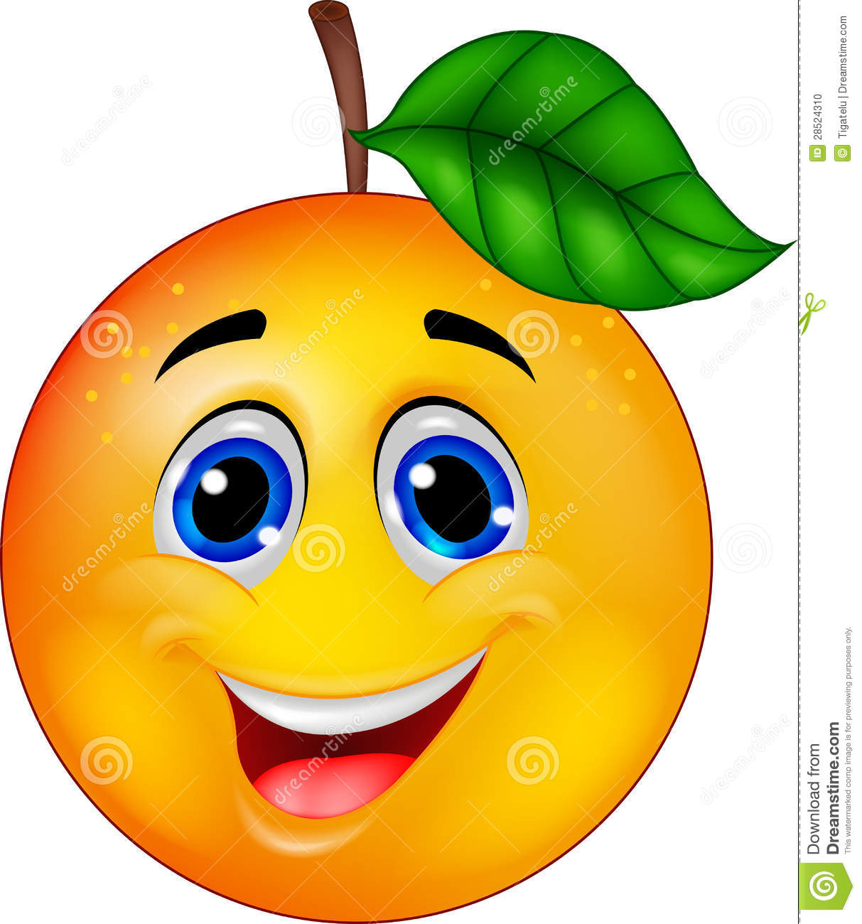 Orange cartoon character stock vector  Illustration of good