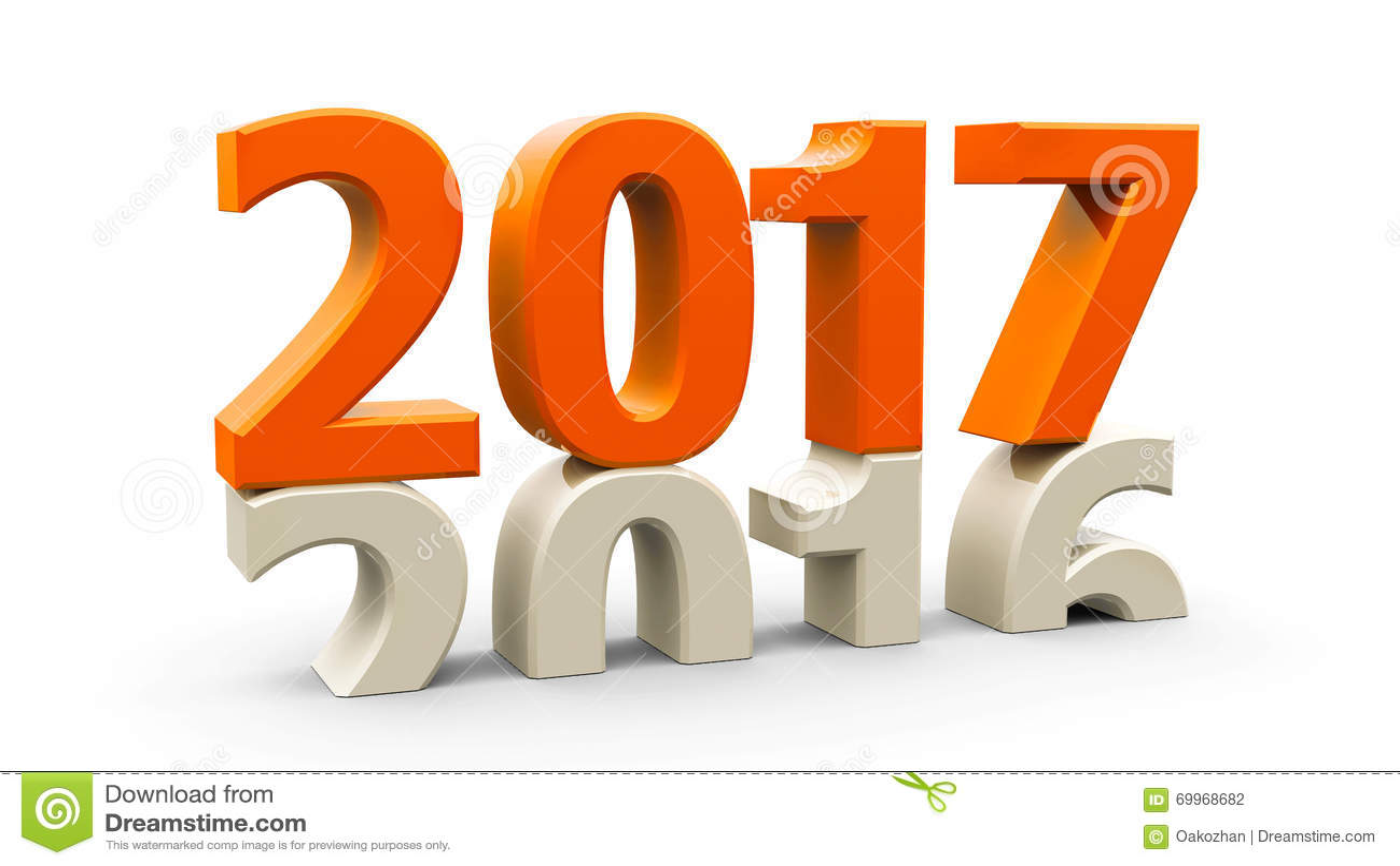 2016-2017 orange stock illustration. Illustration of ...