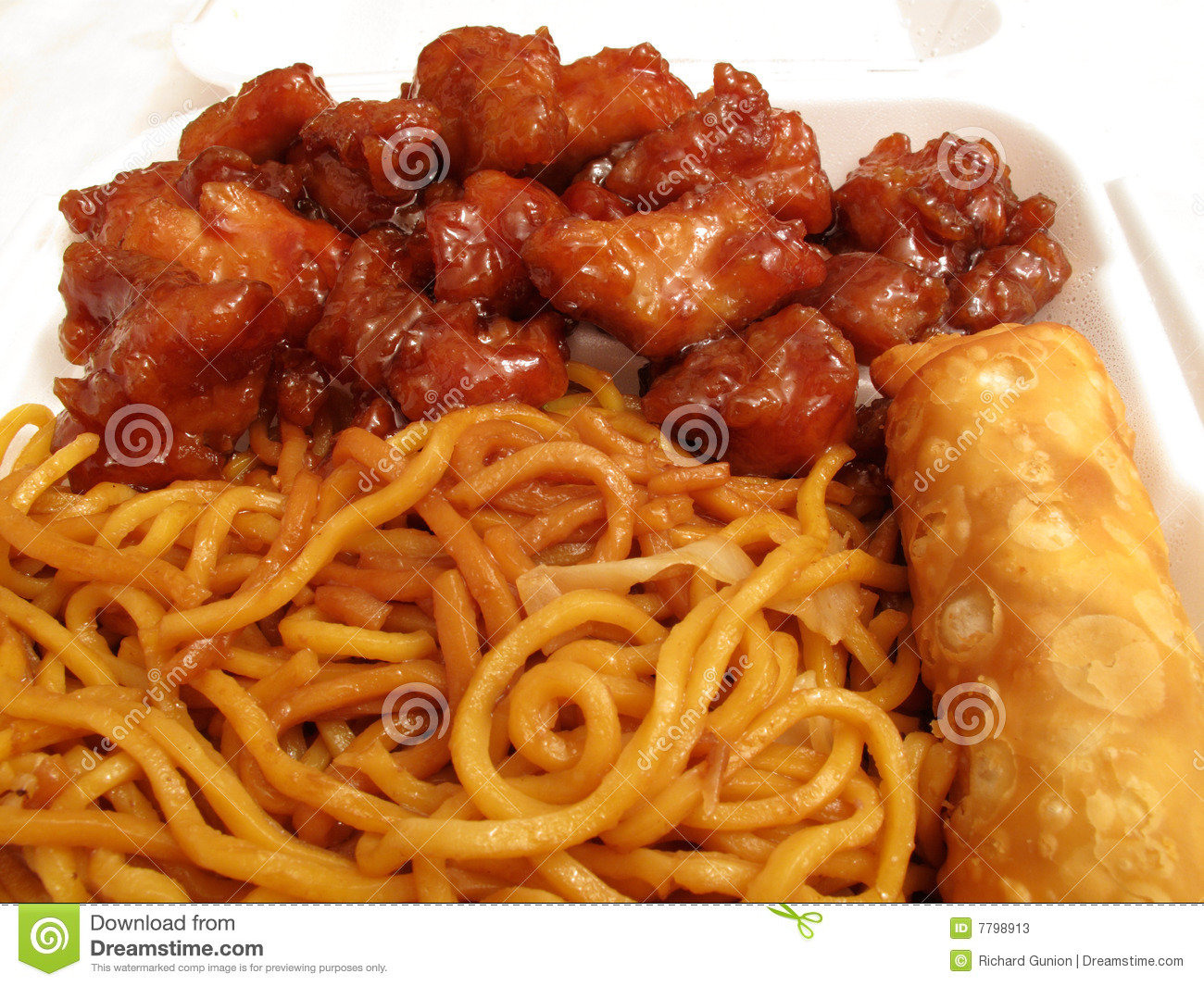 Chinese Food Wide Noodles