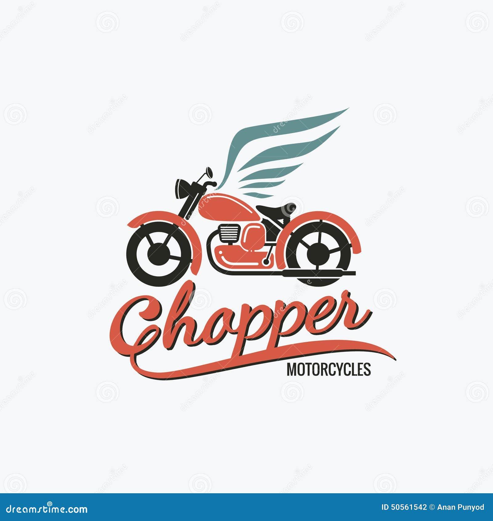 Orange Chopper Motorcycle Logo Stock Vector - Image: 50561542
