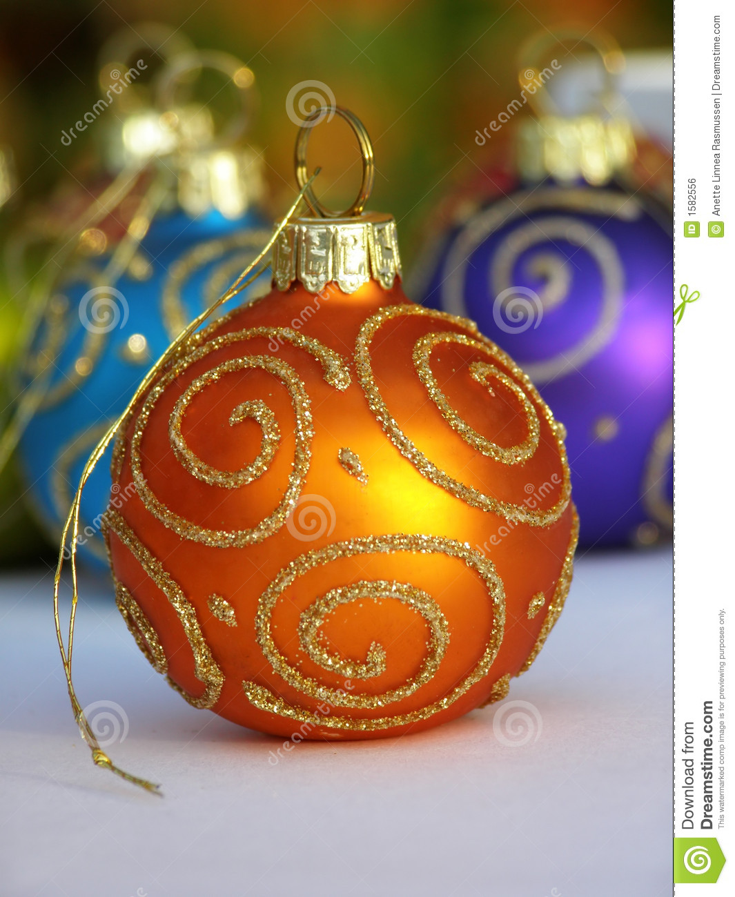Orange And Blue Christmas Lights